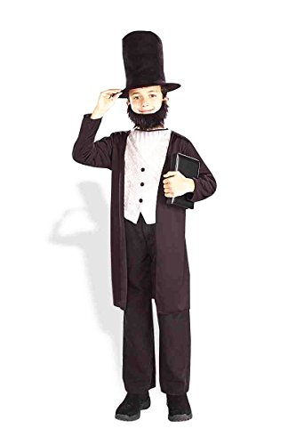 Funny Abe Lincoln Costume (Forum Novelties Kids Abraham Lincoln Costume, X-Large)
