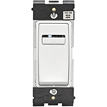 Leviton REL06-WW Renu Universal 300-Watt LED and CFL/600-Watt Incandescent/600VA Magnetic Low Voltage Dimmer, White