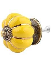Fhupoy Meubelgreep ladeknoppen deur trein van keramiek pompoen vorm eengatige knop met schroef voor kast laden apothekerskast