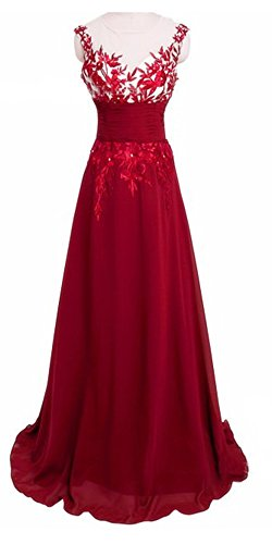Party Spitze Damen Festlich Kliede Prom Lang Ghope Maxi Rot Armellose Boho Abendkleid Perspektive dXwvdBq