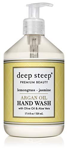 (Deep Steep Argan Oil Liquid Hand Wash, Lemongrass Jasmine, 17.6 Fluid Ounce )