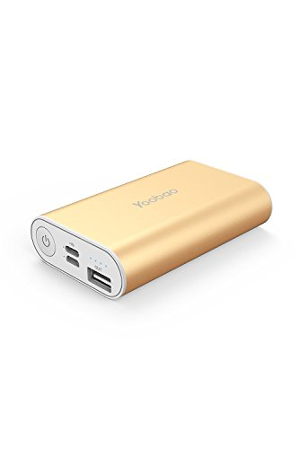 Portable Charger, Yoobao 6000mAh Pocket Size Power Bank External Battery Pack Cellphone Battery Backup Powerbank (Lightning & Micro Dual Input) Compatible iPhone Samsung Galaxy Cell Phone - ()