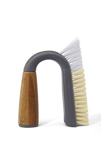 Full Circle Grunge Buster Grout & Tile Scrub Brush, Grey