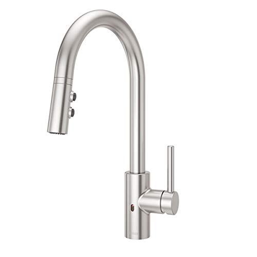 Pfister LG529ESAS Stellen React Touch-Free 1-Handle Electronic Pull-Down Kitchen Faucet, Stainless...