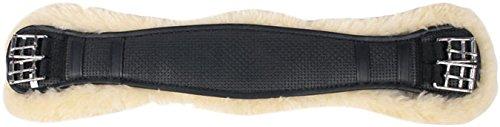 Lammfellsattelgurt Kurzgurt mit Merinofutter ( Lammfell ) schwarz Sattelgurt Dressurgurt mit echtem Lammfell