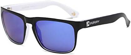 Rzj-njw Lunettes de Soleil pour Hommes 100% polarisants Protection UV Hommes Lunettes de Soleil pour Conduire et pêche et Sports UV 400,4