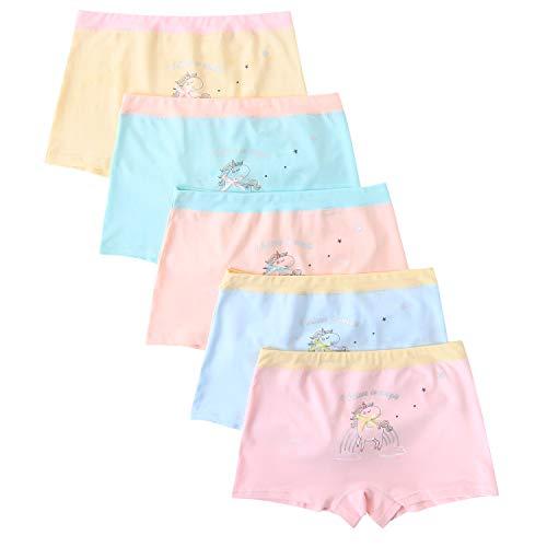 FYDRISE Girls Bunny Boyshort Underwear Rabbit Ears Seamless Briefs Panties Pack of 5
