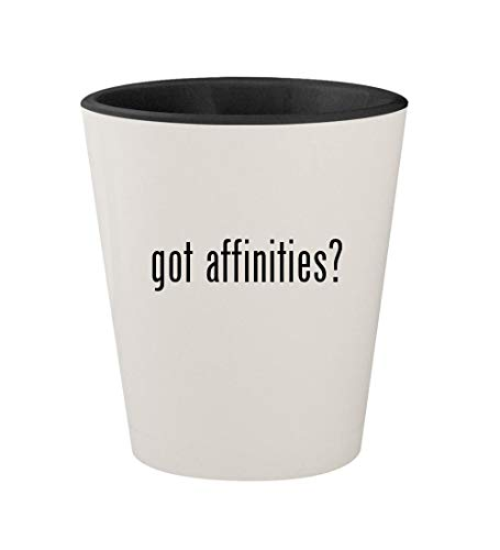 got affinities? - Ceramic White Outer & Black Inner 1.5oz Shot Glass