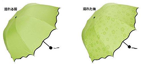 折りたたみ傘雨傘日傘晴雨兼用のレディース傘UVカット【UV100遮光】で軽いかわいいかさポケットサイズだからバックの中邪魔にならない(グリーン)