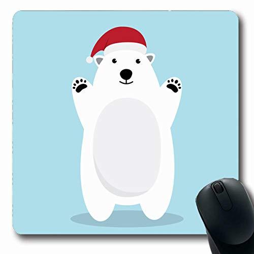 Ahawoso Mousepad Oblong 7.9x9.8 Inches Bear Brown Christmas Polar Character Cute Costume Holidays...