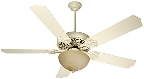 Indoor Ceiling Fans 2 Light Fixture with Antique White Distressed Finish Medium Bulb 22