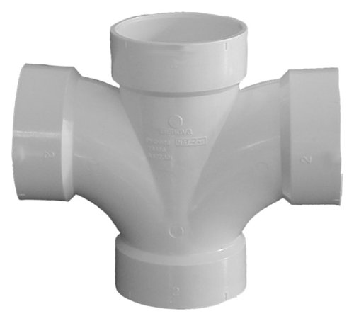(Genova Products 73530 Double Sanitary Tee Pipe Fitting, 3