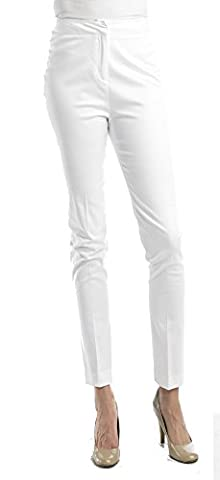 Ally NYC Women's New Double Sateen Pants - Bright White - 4 (Petite Office Pants)