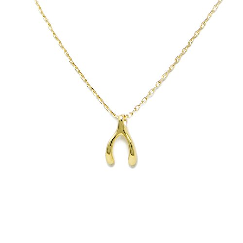 Me Plus Women Fashion Gold Dipped Charm Collar Necklace (5 (Wishbone-Gold)