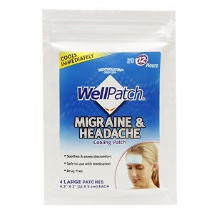 Wellpatch Migraine Cooling Headache Pads - WellPatch Cooling Headache Pads, Migraine 4 pads in a pack. = 24pads by WellPatch