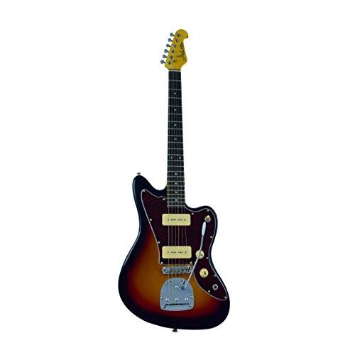 J&D JM Electric Guitar - Rosewood Fingerboard & Maple Neck, Sunburst Finish by CNZ Audio ()