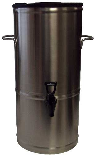 Boswell Commercial Equipment TD5-RD Round, Non-Heated Stainless Steel Tea Dispenser, 5 gal, 11'' Length, 11'' Width, 24'' Height by Boswell Commercial Equipment