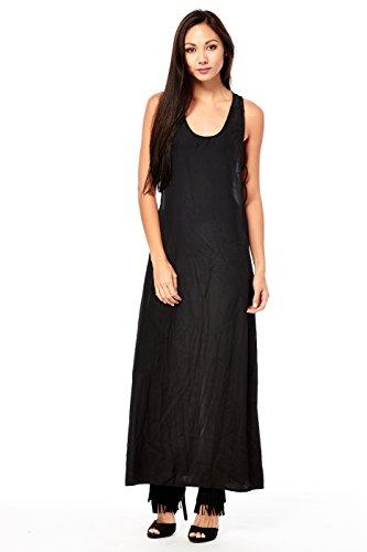 D22160 Ladies Lovely Queen Womens Dresses Woven Business Black Maxi P0qU7HwTcz