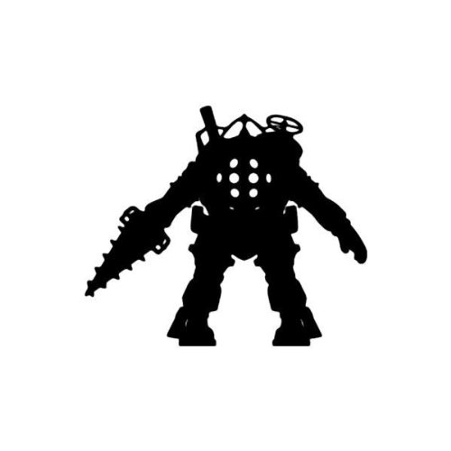 "BIOSHOCK 6"" Tall Big Daddy Decal Sticker for Laptop Car Window Tablet Skateboard - Black"