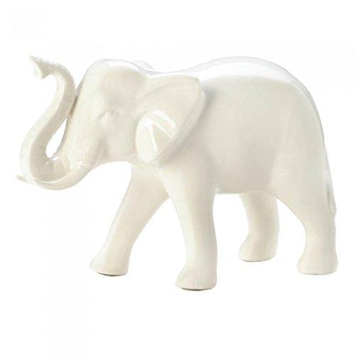Accent Plus Classic White Decorative Elephant by Accent Plus