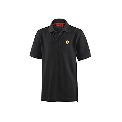(Ferrari Kid's Classic Polo Shirt, Black, 8)