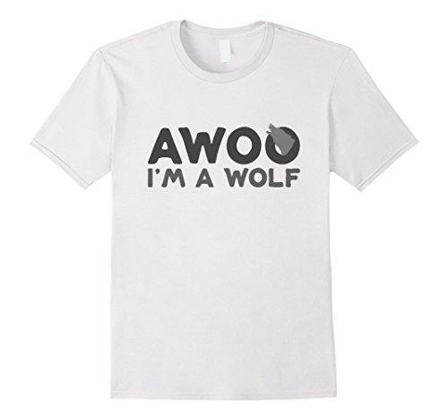 Mens Wolf Costume - Easy Wolf Costume - Halloween Shirt XL White