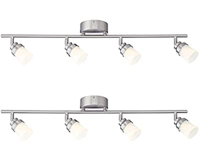 Designers Fountain EVT102027-35D-2 3'. Led Brushed Nickel Track Lighting Kit with 4 Led Track Lights (2 Pack)