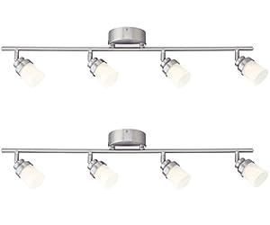 Designers fountain evt102027 35d 2 3 led brushed nickel track led brushed nickel track lighting kit with 4 led track lights 2 pack aloadofball Choice Image
