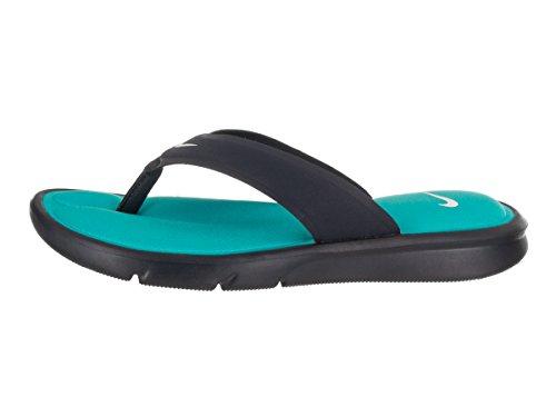 NIKE Frauen Ultra Comfort Thong Sandale Obsidian / Weiß / Chlorblau