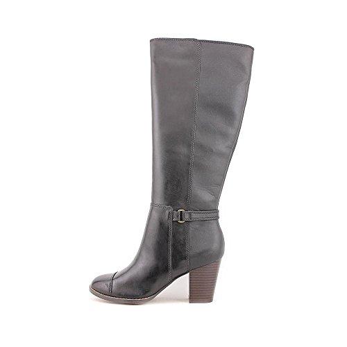 Giani Bernini Womens Levins Leather Cap Toe Knee High Fashion Boots Black al9uidtY