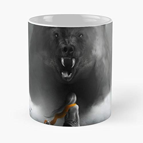 Bear Warror Over Coming Fear Facing Her Greatest Terror Water Samurai - Best Gift Ceramic Coffee Mugs ()