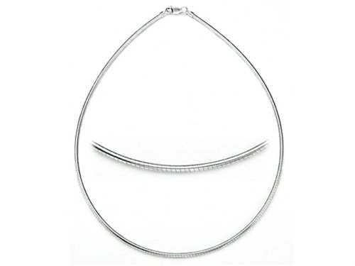 Zable Sterling Silver Round Omega Necklace 18 inches for use with Pandora Compatible Beads ()