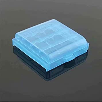 Caja de almacenamiento de batería AA de plástico duro recargable ...