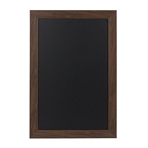DesignOvation Beatrice Framed Magnetic Chalkboard, 18x27, Walnut Brown