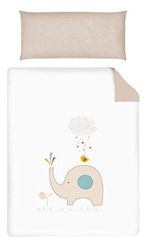 Pirulos Elef Bettbezug und Kissenbezug, 120 x 150 cm