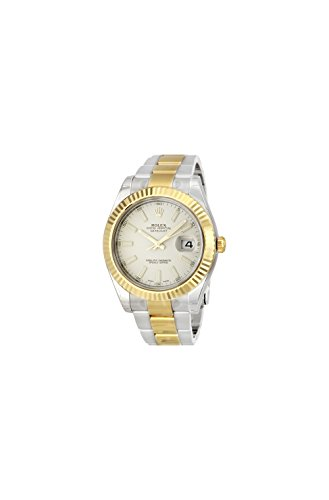 Rolex Datejust II Ivory Index Dial 18k Yellow Gold Bezel Oyster Bracelet Mens Watch -