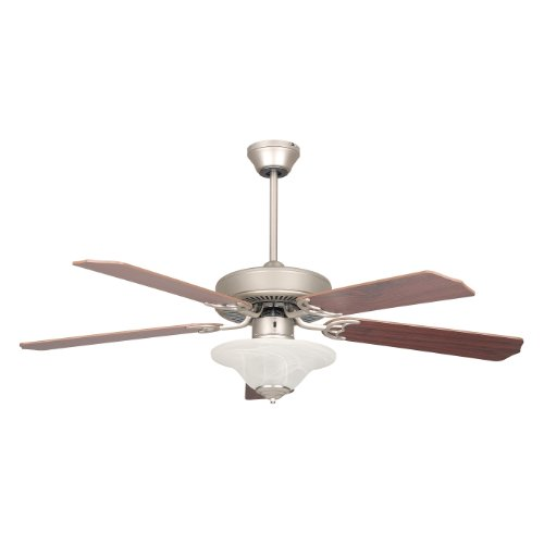 Concord Fans 52HES5ESN-ES 52 Inch Heritage Sq Ceiling Fan with Two 13 Watt GU-24 Bowl Light Kit - Satin Nickel (Bowls Glass Concord)