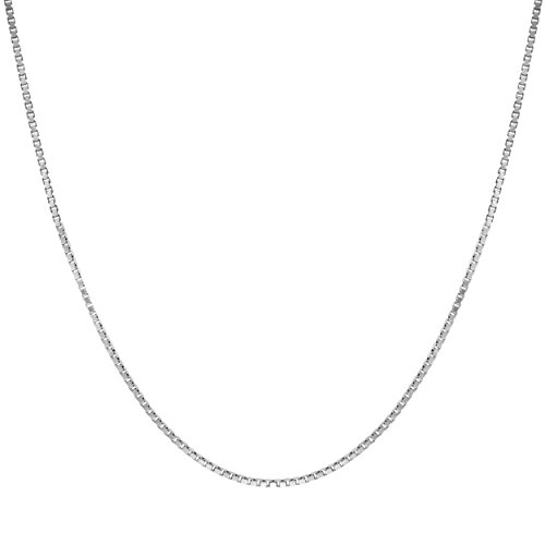 Honolulu Jewelry Sterling Silver 1mm Box Chain Necklace 14