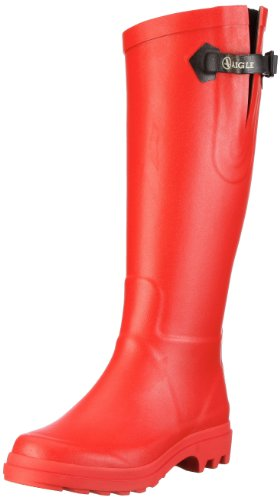 mujer Mollet Rot de rojo Benyl Aigle coquelicot Large Botas agua 1RqTnPpw