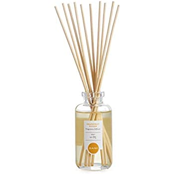 DANI Naturals Essential Oil Reed Diffuser Set with Natural Sticks, Glass Bottle and Scented Oil - Grapefruit Ginger Fragrance, Aromatherapy – 3 Ounce