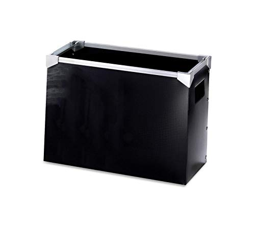 - Premium Poly Desktop File Box, Black, 1 Each
