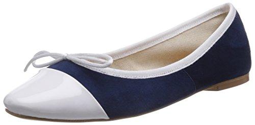 CAFèNOIR Ballerinas - Bailarinas de piel para mujer azul - Blau (228 BLU)