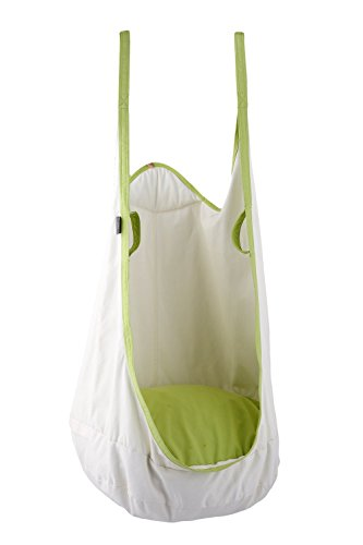 Frog Pod - HappyPie Frog Folding Hanging Pod Swing Seat Indoor and Outdoor Hammock for Children to Adult (White)