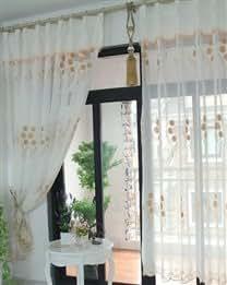Modern Terylene Living Room Drape Window Screen Curtains Home Audio Theater