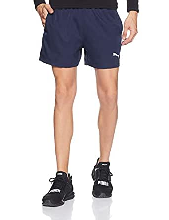 "PUMA Men's Active Woven Short 5"", Peacoat, X-Large"