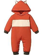 OPAWO My 1st Halloween Baby Boy Girl Outfit Pumpkin Skeleton Hooded Romper Long Sleeve Halloween Costume Jumpsuit 0-24 Months