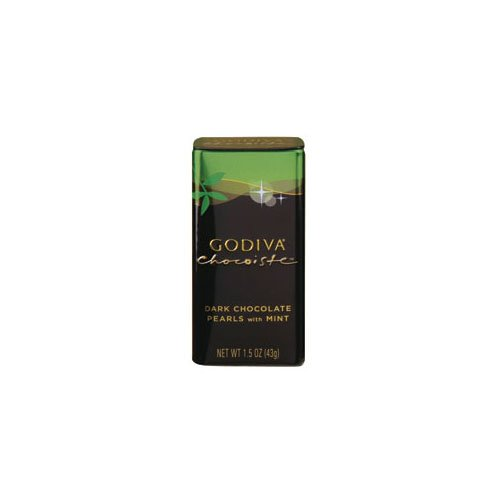 Godiva Chocolatier Dark Choc Mint Chocoiste Pearls (Economy Case Pack) 1.5 Oz Tin (Pack of 18)