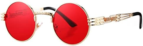 Pro Acme Metal Spring Frame Round Steampunk Sunglasses Clear Lens Available