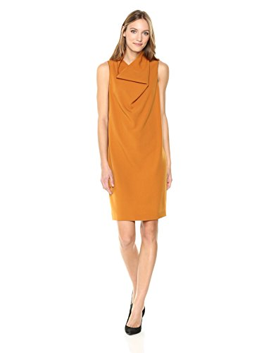 - Anne Klein Women's Madison Crepe Cowl Neck Sheath Dress, Pueblo, Small