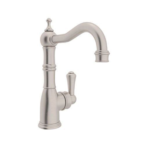 Rohl U.4739STN-2 Perrin and Rowe Single Lever Single Hole Bar Faucet with 6-1/2-Inch Reach Spout, Satin Nickel by Rohl